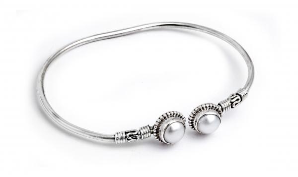 Brățară din Argint cu Perle de Cultură Flexibilă 0