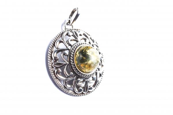 Pandantiv din Argint cu  Chihlimbar 3