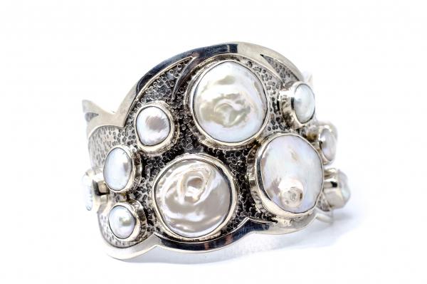 Bratara din Argint  Catusa cu  Perla 2