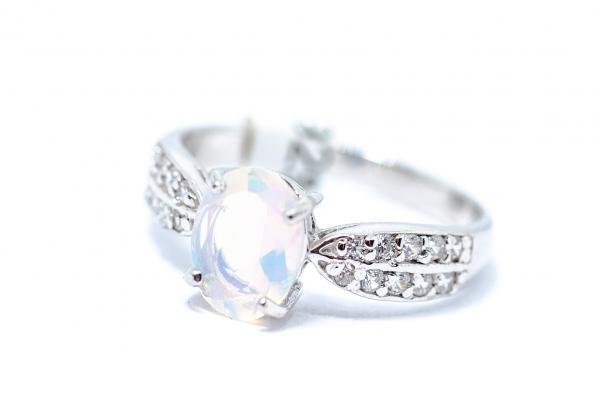 Inel din Argint cu Opal si Zirconiu 1