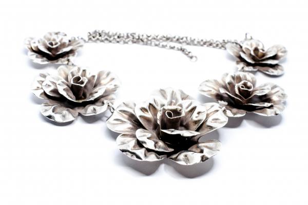 Lant din Argint cu Flori 0
