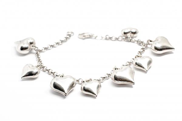 Bratara din Argint cu Inimioare 0
