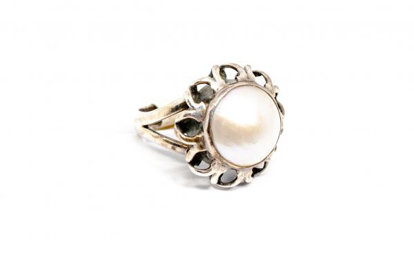 Inel din Argint cu Perla de Cultura 0