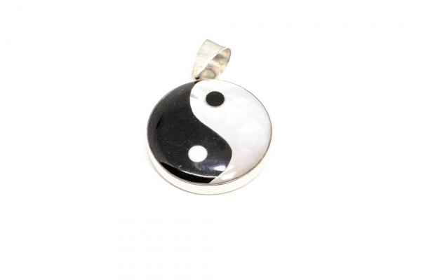 Pandantiv Yng și Yang cu Sidef si Argint [0]