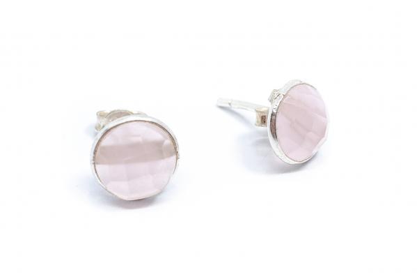 Cercei Cuart Roz din Argint 0