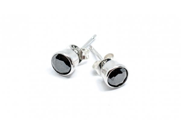 Cercei din Argint cu Zirconiu Negru [1]