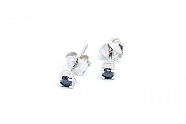 Cercei Safir şi Argint cu Şurub 0