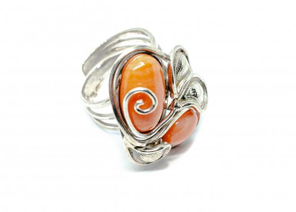 Inel din Argint cu Coral 0