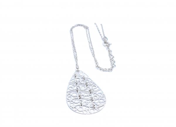 Lant din Argint cu Pandantiv Zirconat 1