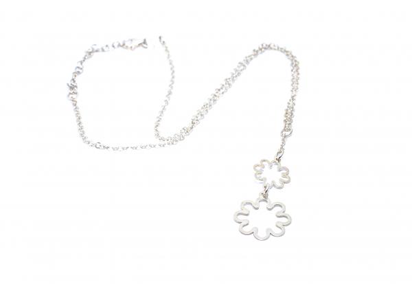 Lant din Argint cu Pandantiv Floare 1