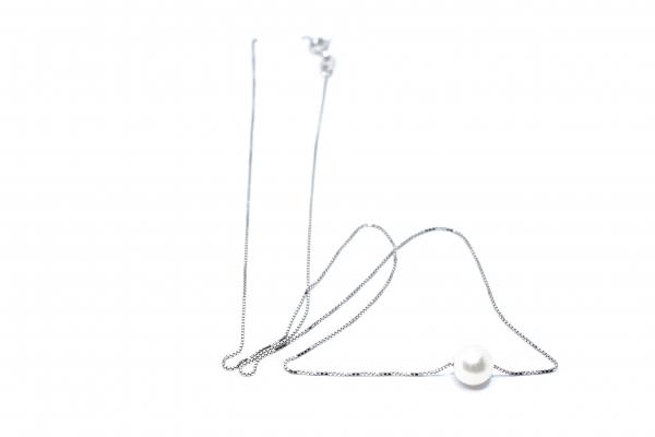 Lant din Argint cu Perla 0