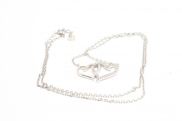 Lant din Argint Inimioare cu Zirconiu 1