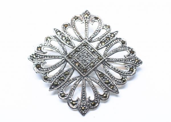 Brosa din Argint cu Marcasite 0