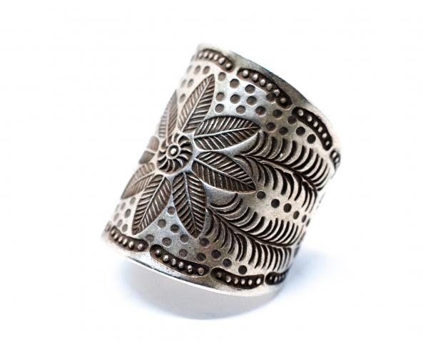 Inel din Argint Floare Reglabil 0