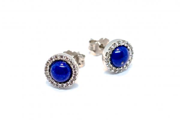 Cercei Lapis  Lazuli si Zirconiu 0