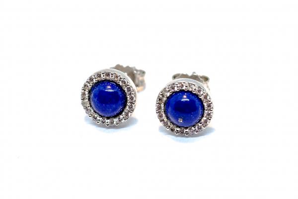 Cercei Lapis  Lazuli si Zirconiu 1