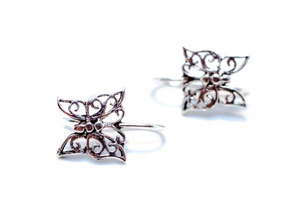 Cercei Argint Fluture 0