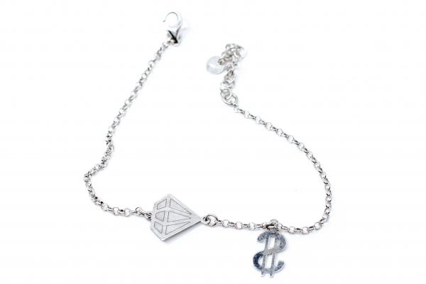 Bratara Argint Dolar si Diamant 1