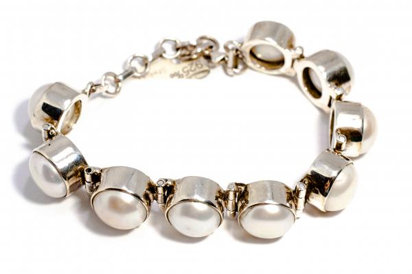 Bratara din Argint cu Perla de Cultura 1
