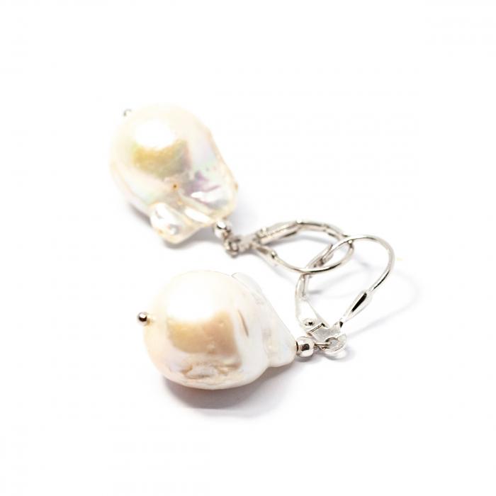 Cercei din Argint cu Perla Baroque [0]