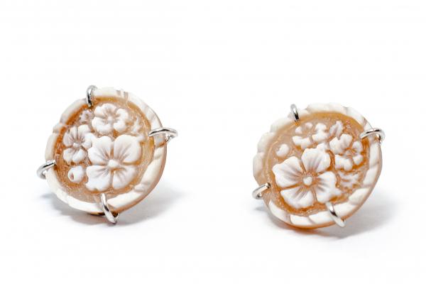 Cercei din Argint cu Floare Camee 1