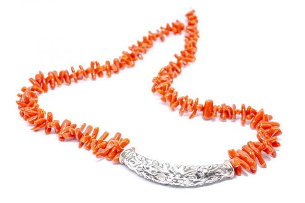 Colier din Argint cu Coral 1