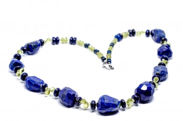 Colier Creatie Lapis Lazuli si Peridot 1
