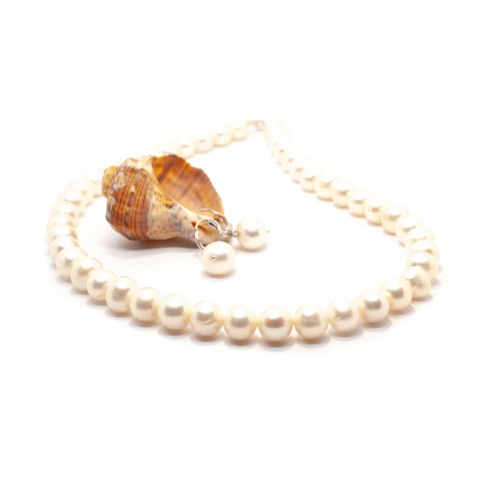 Set Colier si Cercei cu Perle de Cultura si Argint [0]