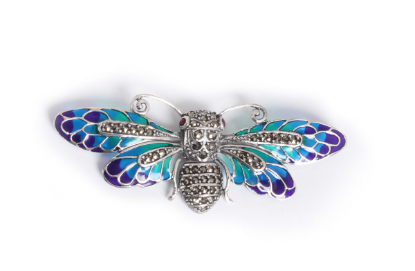 Broșă din Argint  Fluture cu Email 0