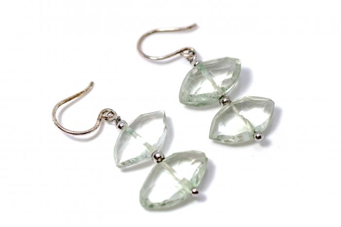 Cercei din Argint cu Ametist Verde [0]