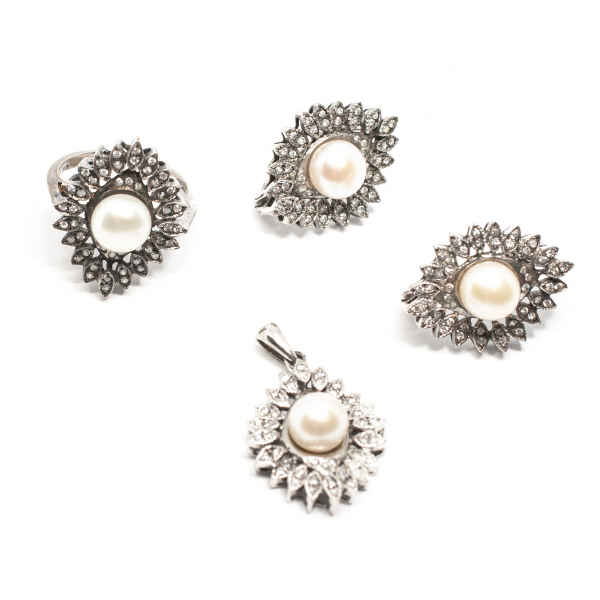 Set din Argint cu Perla si Zirconii [0]