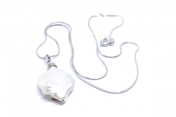 Lanț din Argint cu Pandantiv Perlă [0]