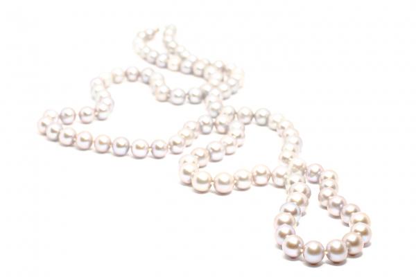 Colier Creatie cu Perle Gri si Argint 0