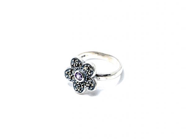 Inel din Argint cu Zirconiu si Marcasite 1