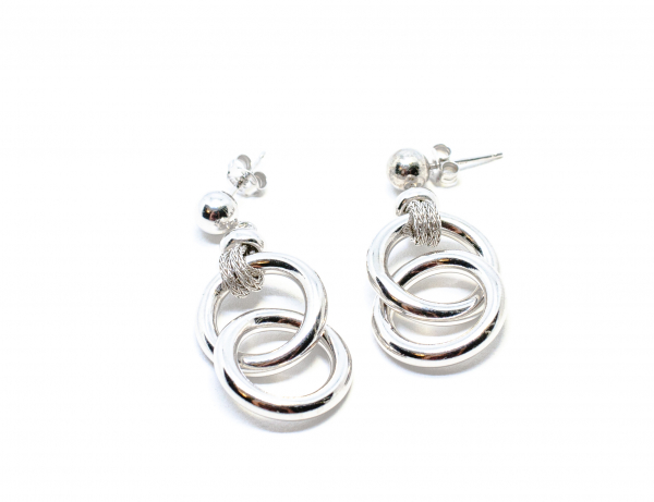 Cercei din Argint cu Cercuri 1
