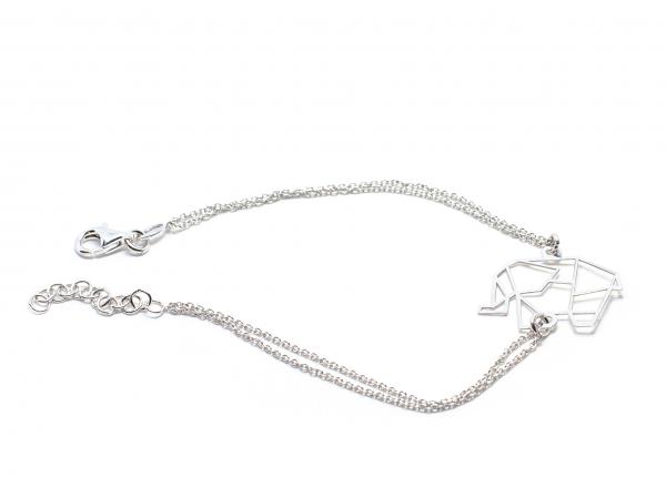 Bratara lant din Argint  cu Elefant Stilizat 0