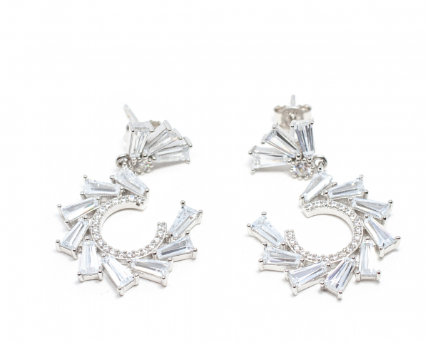 Cercei din Argint cu Zirconiu 0
