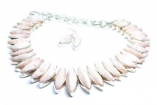 Lant si Cercei din Argint cu Opal Brut [0]