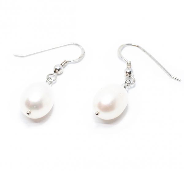 Cercei din Argint cu Perle de Cultura 0