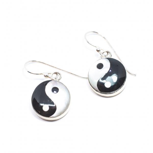 Cercei din Argint cu Yin si Yang 0