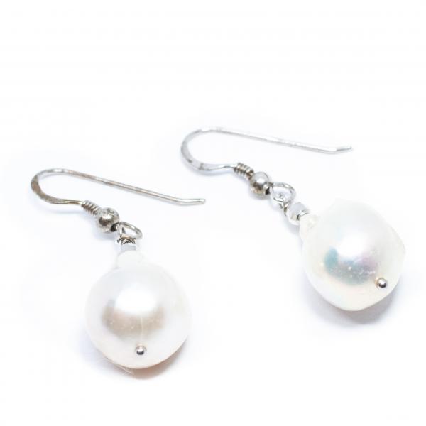 Cercei din Argint cu Perla de Cultura 0