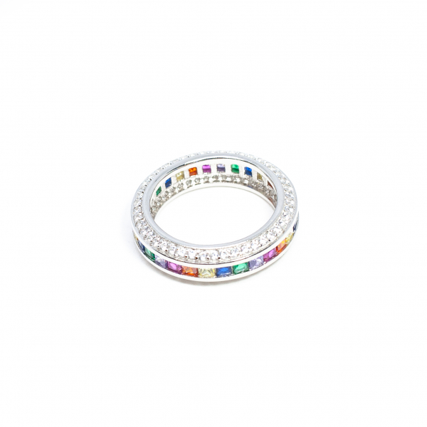 Inel din Argint cu Zirconiu Colorat 0