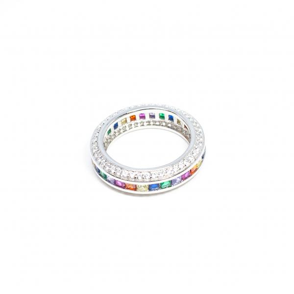 Inel din Argint cu Zirconiu Colorat 2