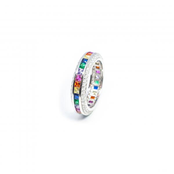 Inel din Argint cu Zirconiu Colorat 1