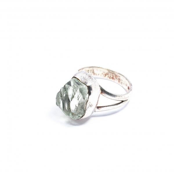 Inel din Argint cu Ametist Verde Brut 0