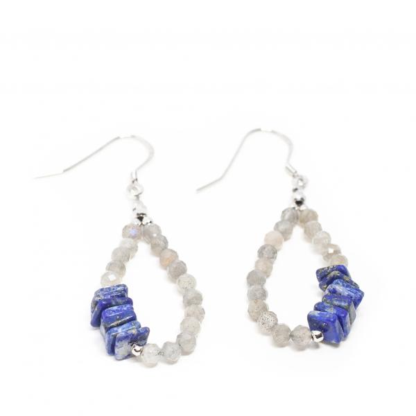 Cercei Creatie cu Labradorit, Lapis Lazuli si Argint [0]