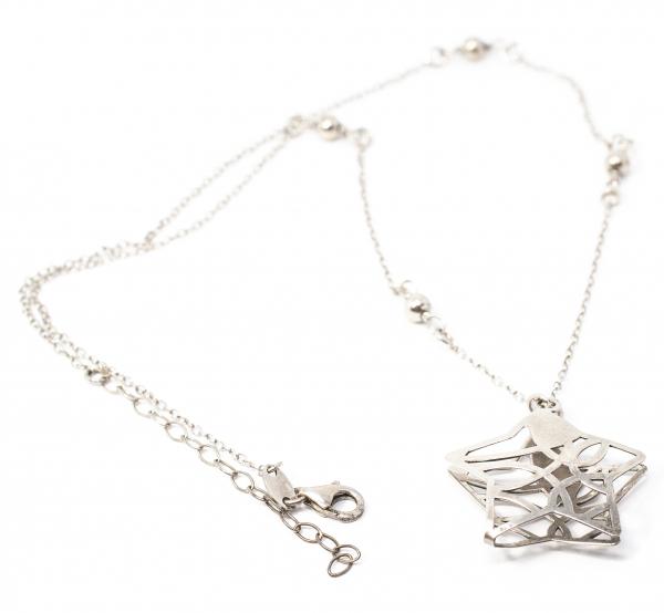 Lanț din Argint cu Pandantiv Stea [0]