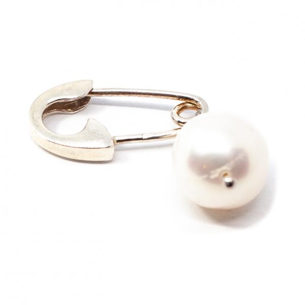 Brosa Ac de Siguranta din Argint cu Perla de Cultura [0]