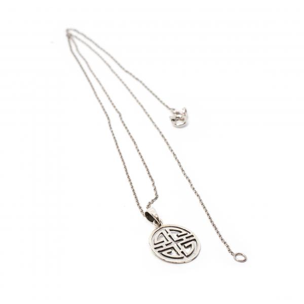 Lant din Argint cu Pandantiv Simbol Chinezesc 0