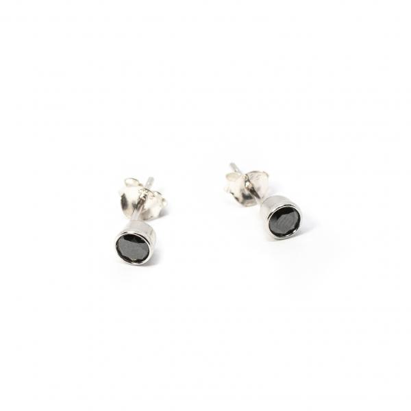 Cercei din Argint cu Zirconiu Roz [0]